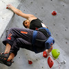 "Team USA's Alex Johnson climbs during an International Federation of Sport Climbing (IFSC) Lead World Cup competition on Saturday, Oct. 8, at Movement Climbing and Fitness on 28th Street in Boulder. For more photos and a video of the event go to  <a href=""http://www.dailycamera.com"">http://www.dailycamera.com</a><br /> Jeremy Papasso/ Camera"