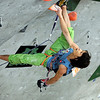 "Team Japan's Kazuma Watanabe climbs during an International Federation of Sport Climbing (IFSC) Lead World Cup competition on Saturday, Oct. 8, at Movement Climbing and Fitness on 28th Street in Boulder. For more photos and a video of the event go to  <a href=""http://www.dailycamera.com"">http://www.dailycamera.com</a><br /> Jeremy Papasso/ Camera"