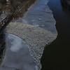 KRISTOPHER RADDER - BRATTLEBORO REFORMER<br /> Ice jams cause minor flooding along the West River on Monday, Jan. 15, 2018.