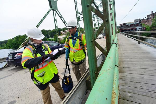 Inspecting a bridge - 062718