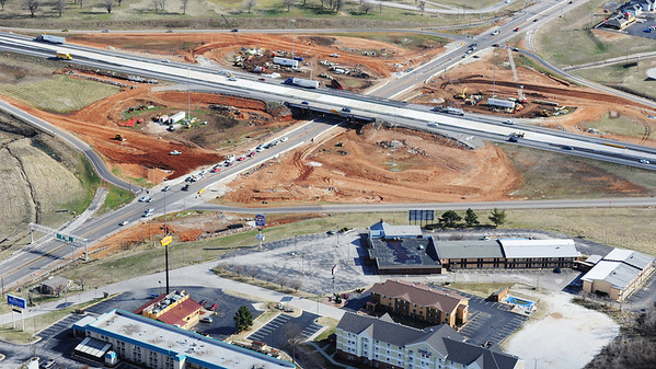 J-Mag/T. Rob Brown<br /> Joplin I-44 and Range Line Road interchange under construction in March 2013.