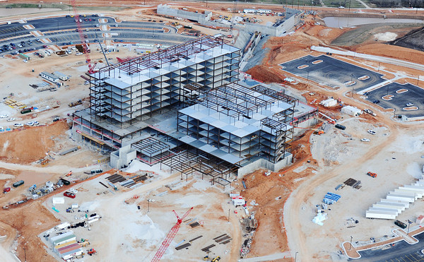 J-Mag/T. Rob Brown<br /> Mercy Hospital under construction in March 2013.