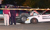 Troy Police and Fire personel investigate a crash at 159 Fourth Street Wednesday, August 21, 2013 in Troy, N.Y.. (J.S.CARRAS/THE RECORD)