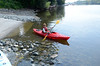 Troy City Council President Lynn Kopka launghes from boat launch at 123rd Street that reopened Wednesday, August 21, 2013 in Lansingburgh, N.Y.. (J.S.CARRAS/THE RECORD)