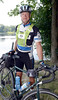 SeatoSea cyclist Steve Dykstra, of Abbottsford, B.C., during the opening boat launch at 123rd Street Wednesday, August 21, 2013 in Lansingburgh, N.Y.. (J.S.CARRAS/THE RECORD)