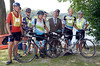 Cyclist from SeatoSea join Troy City Council President Lynn Kopka and Mayor Lou Rosamillia during the opening boat launch at 123rd Street Wednesday, August 21, 2013  in Lansingburgh, N.Y.. (J.S.CARRAS/THE RECORD)