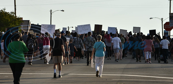 Protesters march toward Sweet Union Church in Jacksonville on Wednesday, June 3 during a Unity Rally in protest of the death of George Floyd.