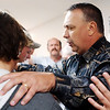 Globe/T. Rob Brown<br /> Bill Harvill of Stark city, right, leads a prayer during a recovery meeting Sunday, Nov. 27, 2006, at Shoal Creek Revival Church east of Granby.<br /> Section: Special Section - Meth Story: Max McCoy