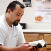 Globe/T. Rob Brown<br /> Steve Box of Pierce City reads the Holy Bible during a recovery meeting Sunday, Nov. 27, 2006, at Shoal Creek Revival Church east of Granby.<br /> Section: Special Section - Meth Story: Max McCoy