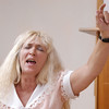 Globe/T. Rob Brown<br /> Denise Ledbetter of Goodman sings during a recovery meeting Sunday, Nov. 27, 2006, at Shoal Creek Revival Church east of Granby.<br /> Section: Special Section - Meth Story: Max McCoy