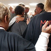 Globe/T. Rob Brown<br /> Mandy Moore, left, and Leanna McLemore, both of Springfield, pray during a recovery meeting Sunday, Nov. 27, 2006, at Shoal Creek Revival Church east of Granby.<br /> Section: Special Section - Meth Story: Max McCoy