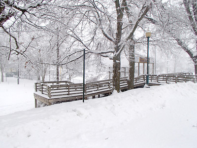 Times Sentinel photo Lions Park was covered in a blanket of snow Sunday, Jan. 5.