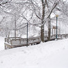 Times Sentinel photo<br /> Lions Park was covered in a blanket of snow Sunday, Jan. 5.