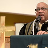 Mike McMahon - The Record, Rev. Richard D. Turpin Pastor, Second Baptist Church, Catskill, NY speaks at the  Troy Area United Ministries Interfaith Martin Luther King Jr. service at the Bethel Paptist Church in Troy,  January 19, 2014.