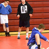 J.S.CARRAS/THE RECORD Saratoga wrestler Dominic Inzina (126) prepares for match Friday, January 17, 2014 at Lansingburgh High School in Landsingburgh, N.Y..