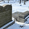 Mike McMahon - The Record,  Headstones at the Oakwood Cemetery were found overturned this weekend.  January 24, 2014.
