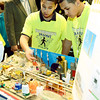 J.S.CARRAS/THE RECORD LaSalle School of Albany students Nehemiah Jackson and Lorenzo Ector explain their Future City named Oasis, during Capital District Future City competition Saturday, January 11, 2014 at Proctor's in Schenectady, N.Y..