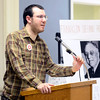J.S.CARRAS/THE RECORD  Daniel Plaat, of Albany speaks during Occupy Albany's Freedom From Want held at Westminster Presbyterian Church Tuesday,  January 14, 2014 in Albany, N.Y..