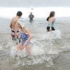 J.S.CARRAS/THE RECORD Only about a dozen people braved the icy waters of Long Pond during the 7th annual Polar Plunge hosted by Cystic Fibrosis Foundation during 29th annual Winter Festival and Fishing Contest Saturday, January 25, 2014 at Grafton Lakes State Park in Grafton, N.Y..
