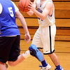 J.S.CARRAS/THE RECORD Hoosick Falls basketball player Andrew Hoag during high school basketball practice Wednesday, January 08, 2014 at Hoosick Falls High School in Hoosick Falls, N.Y..