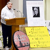 J.S.CARRAS/THE RECORD Sister Francine Dempsey, CSJ., speaks during Occupy Albany's Freedom From Want held at Westminster Presbyterian Church Tuesday,  January 14, 2014 in Albany, N.Y..