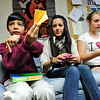 JAPAN<br /> Diego Bedoya, left, a third-grader at Alexander Dawson School, teaches a class of eleventh-graders, including Edna Cerna, center, and Naomi Everhart, right, to fold origami cranes during Japan Day at the school. The event was organized to raise awareness as well as relief for victims of Japan's earthquake.<br /> Photo by Marty Caivano/April 28, 2011