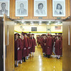 Globe/Roger Nomer<br /> Graduates file out of Missouri Southern's Young Gymnasium to enter commencement on Sunday.