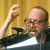 Globe/Roger Nomer<br /> Actor Paul Giamatti reads a passage from Job where Job expresses his anger towards God during Sunday's event at College Heights.