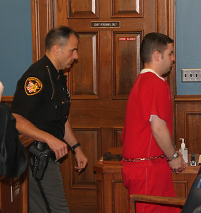 LAWRENCE PANTAGES / GAZETTE James Tench, 30, of Brunswick leaves the courtroom of Medina County Common Pleas Judge Joyce V. Kimbler on Monday afternoon after being sentenced to death for the conviction in the killing of his mother Mary Tench in November, 2013.