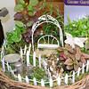 The presence of a fairy in this miniature garden makes it, logically, a fairy garden.