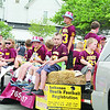 Shown above is one of two trailers that carried Lebanon Youth Football League members and others during the Boone County Fourth of July Parade Thursday.
