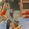 "THE FISTS OF BABES<br /> Elizabeth Pearl | The Lebanon Reporter<br /> TANTRUM TRAINING: Sam Scott, 5, clings onto the leg of his father, Lebanon Police Department officer Austin Scott, at an anti-abduction training seminar for kids held at the police station, 201 E. Main St., on Monday. At the classes, kids were taught to punch, scratch and escape their attackers, as well as to cling onto the legs of their abductors in order to trip them. Lebanon Police Cheif Tyson Warmoth led four classes over the course of the day, and taught the kids to scream and throw tantrums, if necessary. <br /> Steffanie Scott, Sam Scott's mother, said that she and her husband wanted their son to know what to do in bad situations.<br /> ""We want him to be able to protect himself,"" she said. ""You never know when something can happen.""<br /> Warmoth said that the classes proved so popular, and the waiting list so long, that the department will hold more sessions in the future."