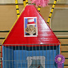 CAT'S ME-WOW: Amelia Winkelman's Dr. Seuss-themed cage won the award for best use of color. Inside, her cat Astro, a 22-pound Maine Coone, lounges after the show.