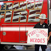 Rod Rose The Lebanon Reporter<br /> PAYING UP: Lebanon Police Chief Tyson Warmoth accepts the consequences of losing a bet with Lebanon Fire Chief Chuck Batts over the reuslts of Thursday's Adult Almost Anything Goes contest at Memorial Park.