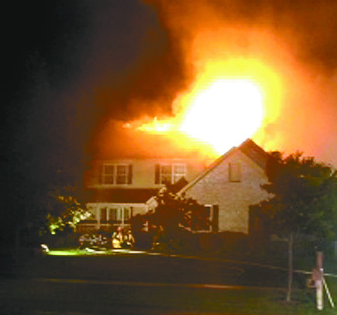 Fire believed started by lightning caused an estimated $100,000 damage to this Zionsville home Tuesday, June 25.