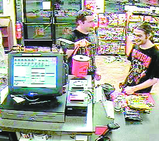 Surveillance video shows two men wanted for questioning in the theft of donations to Riley Children's Hospital.