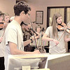 """Members of Fiddlesticks perform """"A Random Act of Culture"""" in the lobby of The Lebanon Reporter Friday morning."""