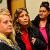 KRISTOPHER RADDER - BRATTLEBORO REFORMER<br /> Diane Lovely, of Agawam, Mass., sheds a tear while her sister Billie-Jo Fournier,  of Holyoke, Mass., talks to members of the press after the arraignment of Justin Orwat at the Windham County Superior Court/Criminal Division, in Brattleboro, Vt., on Monday, Dec. 18, 2017.