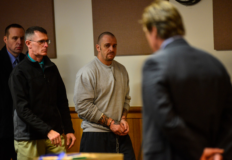 KRISTOPHER RADDER - BRATTLEBORO REFORMER<br /> Justin Orwat, of Springfield, Mass., appeared in Windham County Superior Court/Criminal Division on charges of aggravated murder and first-degree arson on Monday, Dec. 18, 2017.