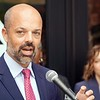 BEN GARVER — THE BERKSHIRE EAGLE<br /> State Senator Adam Hinds speaks at a press conference held by  District Attorney Andrea Harrington announcing a new Juvenile Justice Initiative at the Boys and Girls Club in Pittsfield, Tuesday September 10, 2019.