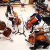 BEN GARVER — THE BERKSHIRE EAGLE<br /> Ignacy Gaydamovich leads the cello section as Kids 4 Harmony rehearse at Morningside Community School, Wednesday, July 10, 2019. <br /> On July 15, they'll play the Berkshire Children and Families gala, which will launch with a rebranding. The next day, eight students will be traveling to California for the Yola National Festival; one of those students, Gerdlie Jeanlouis, 15,  has been selected as one of 17 to participate in the inaugural Yola Institute, travel to Scotland with the Los Angeles Philharmonic, and be mentored by an LA Philharmonic musician for the upcoming school year.
