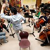 BEN GARVER — THE BERKSHIRE EAGLE<br /> Jorge Soto teaches Kids 4 Harmony as they rehearse at Morningside Community School, Wednesday, July 10, 2019. <br /> On July 15, they'll play the Berkshire Children and Families gala, which will launch with a rebranding. The next day, eight students will be traveling to California for the Yola National Festival; one of those students, Gerdlie Jeanlouis, 15,  has been selected as one of 17 to participate in the inaugural Yola Institute, travel to Scotland with the Los Angeles Philharmonic, and be mentored by an LA Philharmonic musician for the upcoming school year.