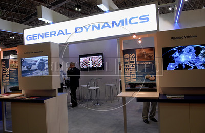 A General Dynamics stand is seen at the Latin America Aero and Defence (LAAD) trade show for the defence and security industry in Latin America, Rio de Janeiro, Brazil, April 14, 2011. (Austral Foto/Renzo Gostoli)