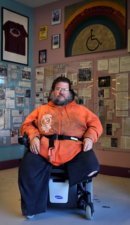 INEWS101-LTC-DonClubb.JPG Don Clubb poses at the Atlantis Community building in central Denver on  Dec. 2, 2010. Clubb was one of 13 disabled residents of a Denver nursing home who left to live in their own apartments in 1975, sparking a movement that has spread across the country over the past three decades.(JOE MAHONEY/I-NEWS)