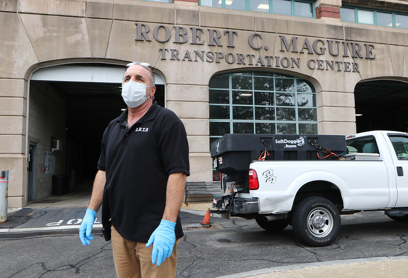 LRTA facility manager Todd Bello, at the Gallagher Transportation Center in Lowell. (SUN/Julia Malakie)