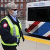 LRTA bus driver Ellen Patnaude, at the Gallagher Transportation Center in Lowell. (SUN/Julia Malakie)