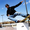 """Ryan Martin, 38, of Arvada, stalls on a feature on Friday, April 15, at the Lafayette Skatepark which is located adjacent to the Bob L. Burger Recreation Center at 111 W. Baseline Road in Lafayette. For more photos and video of the skatepark go to  <a href=""""http://www.dailycamera.com"""">http://www.dailycamera.com</a><br /> Jeremy Papasso/ Camera"""