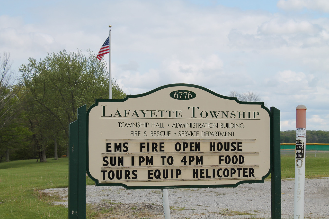 LAWRENCE PANTAGES / GAZETTE As part of the start of National Emergency Medical Services Week, the Lafayette Township Fire Department held an open house Sunday to allow residents and guests to view the township's fire safety and rescue equipment. The township trustees will ask voters on Aug. 2 to approve a tax levy for the construction of a new fire station.