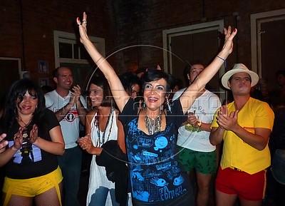 Festa de lancamento da campanha para deputada federal de Gabriela Leite, ex-prostituta e sociologa, diretora da ONG Davida e da grife de roupas Daspu, Rio de Janeiro, Brasil, agosto 7, 2010. (Austral Foto/Renzo Gostoli)