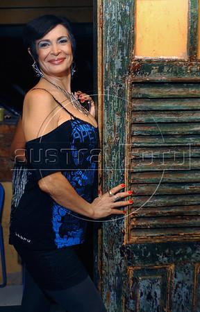 Tania Ferreira, atriz, na festa de lancamento da campanha para deputada federal de Gabriela Leite, ex-prostituta e sociologa, diretora da ONG Davida e da grife de roupas Daspu, Rio de Janeiro, Brasil, agosto 7, 2010. (Austral Foto/Renzo Gostoli)